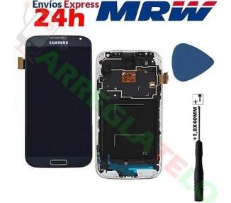 Pełny ekran z ramką do Samsung Galaxy S4 i9505 I9500 I9515 Blue TFT