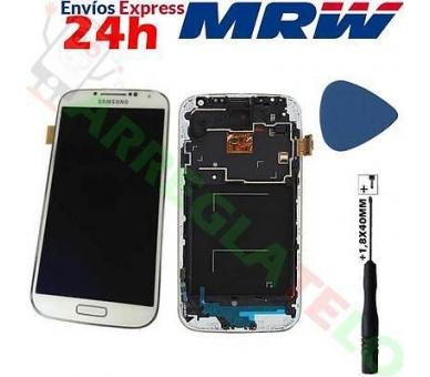 Bildschirm Display mit Rahmen für Samsung Galaxy S4 i9505 i9500 i9515 Weiß TFT ARREGLATELO - 1