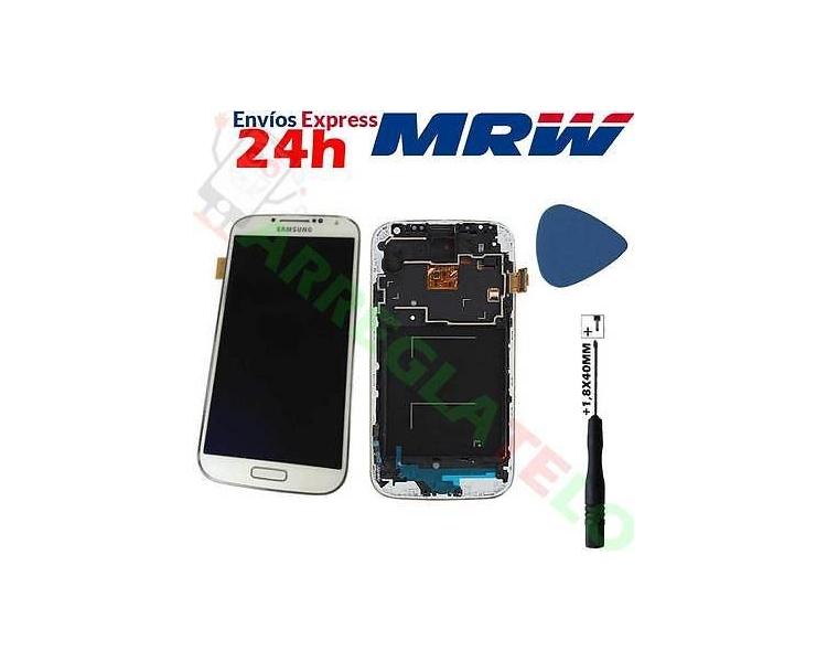 Pełny ekran z ramką do Samsung Galaxy S4 i9505 i9500 i9515 Biały TFT