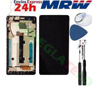 Pantalla Completa con Marco para BQ Aquaris E5 E5HD IPS5K0760FPC-A1-E Negro ARREGLATELO - 1