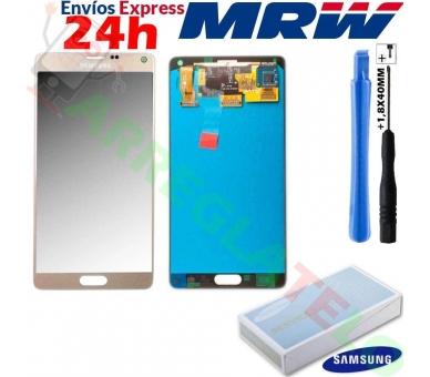 Origineel volledig scherm voor Samsung Galaxy Note 4 N910F Goud Goud Goud Samsung - 1