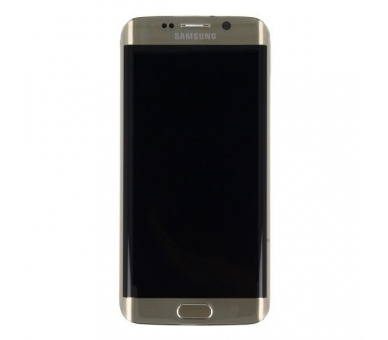 Display For Samsung Galaxy S6 Edge, Color Gold, With Frame, Original Amoled Samsung - 4