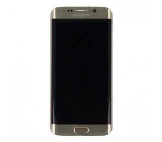 Oryginalny pełny ekran z ramką do telefonu Samsung Galaxy S6 Edge G925F Gold