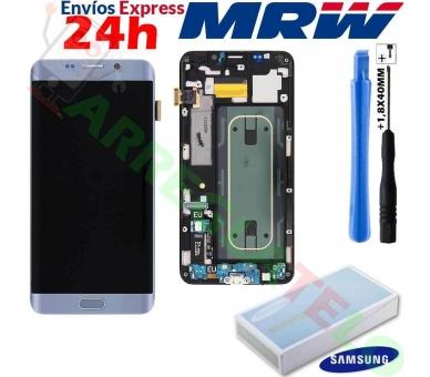 Original Bildschirm Display mit Rahmen für Samsung Galaxy S6 Edge Plus Edge+ Silber G928F Samsung - 1