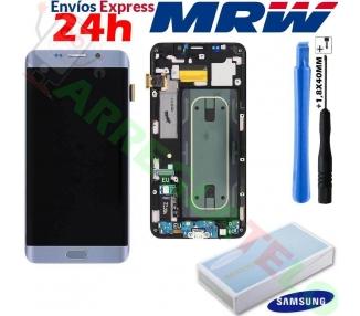 Pantalla Original con Marco para Samsung Galaxy S6 Edge Plus Plata G928F Samsung - 1