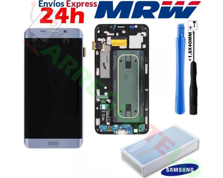Pantalla Original con Marco para Samsung Galaxy S6 Edge Plus Edge+ Plata G928F Samsung - 1