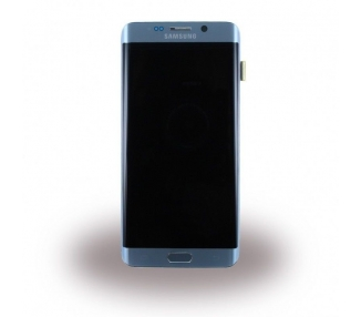 Oryginalny Ekran z Ramką do Samsung Galaxy S6 Edge Plus Srebrny G928F