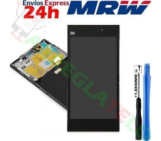 Pantalla Completa con Marco para Xiaomi Mi3 Negro Negra ARREGLATELO - 1