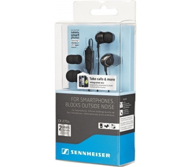 Sennheiser CX 275s - In-ear koptelefoon met microfoon voor iPhone Samsung LG ... Sennheiser - 1