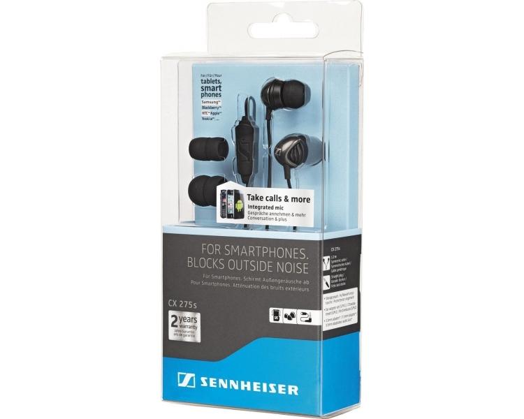Sennheiser CX 275s - Słuchawki douszne z mikrofonem do iPhone'a Samsung LG ...
