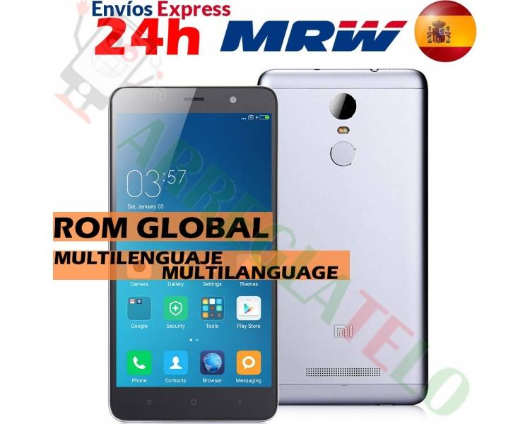 "Xiaomi Redmi Note 3 5.5"" FHD 2GB 16GB Multilenguaje Gris Xiaomi - 1"