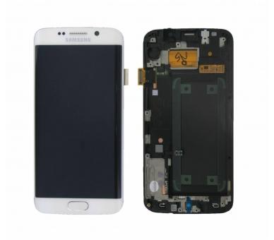 Original Bildschirm Display mit Rahmen für Samsung Galaxy S6 Edge G925F Weiß Samsung - 1