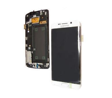 Original Bildschirm Display mit Rahmen für Samsung Galaxy S6 Edge G925F Weiß Samsung - 2