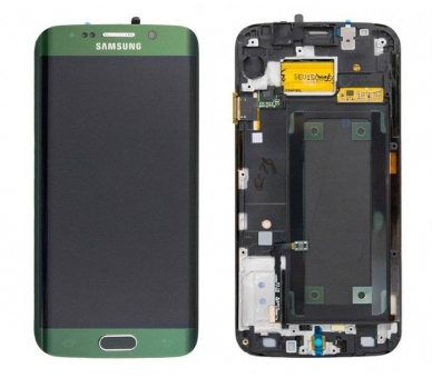 Display For Samsung Galaxy S6 Edge, Color Green, With Frame, Original Amoled Samsung - 2