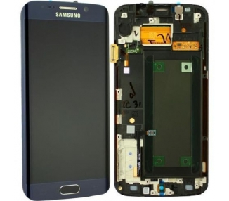 Oryginalny pełny ekran z ramką do telefonu Samsung Galaxy S6 Edge G925F Czarny