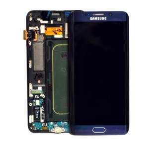 Display For Samsung Galaxy S6 Edge Plus, Color Black, With Frame, Original Amoled