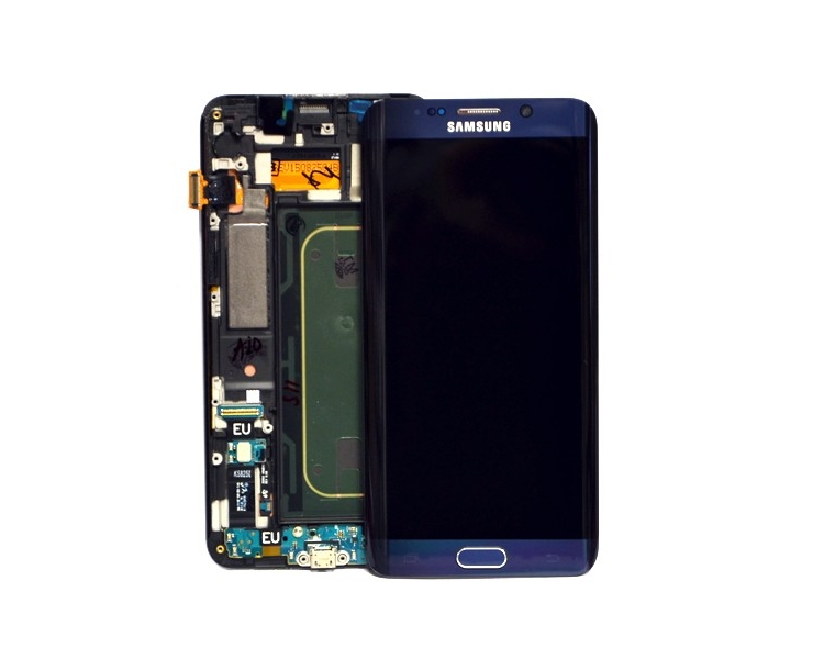 Display For Samsung Galaxy S6 Edge Plus, Color Black, With Frame, Original Amoled Samsung - 1