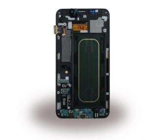 Oryginalny Ekran z Ramką do Samsung Galaxy S6 Edge Plus G928F Czarny