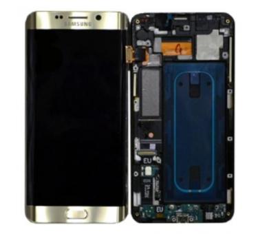 Oryginalny Ekran z Ramką do Samsung Galaxy S6 Edge Plus G928F Gold Gold Samsung - 1