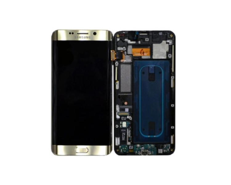 Oryginalny Ekran z Ramką do Samsung Galaxy S6 Edge Plus G928F Gold Gold