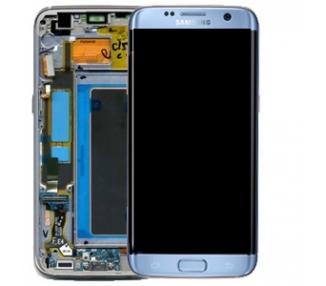 Pantalla Completa Original con Marco para Samsung Galaxy S7 Edge G935F Azul Samsung - 1