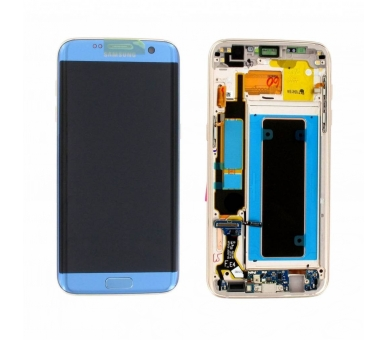 Display For Samsung Galaxy S7 Edge, Color Blue, With Frame, Original Amoled Samsung - 3