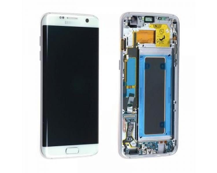 Oryginalny pełny ekran z ramką do telefonu Samsung Galaxy S7 Edge G935F White