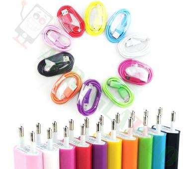 Cargador Universal USB Para Samsung Nokia Huawei HTC LG BQ ZTE + Cable Micro USB  - 16