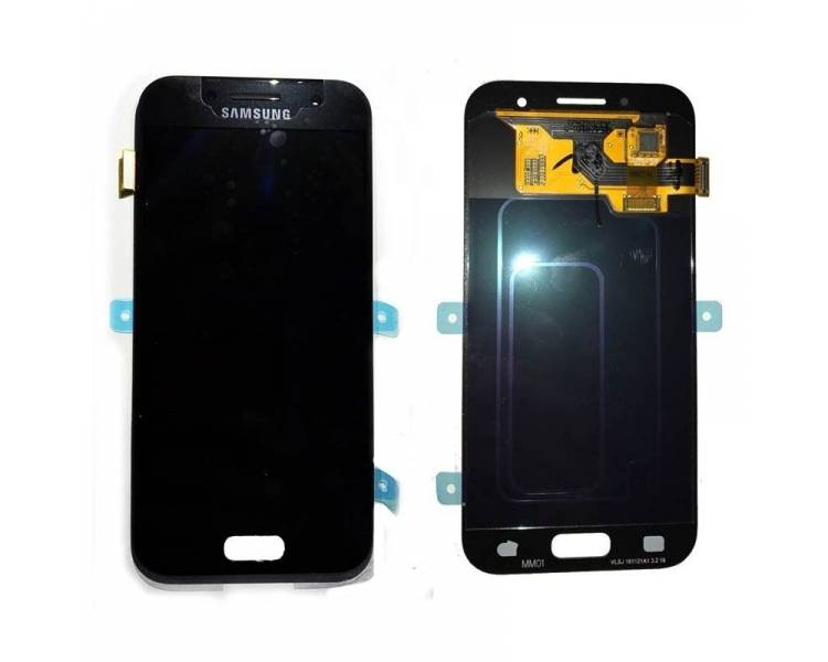 Oryginalny pełny ekran do Samsung Galaxy A3 2017 A320F A320FU Czarny Czarny