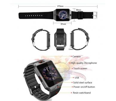 Reloj Inteligente DZ09 SmartWatch Sim Telefono Android IOS Bluetooth Cámara  - 8