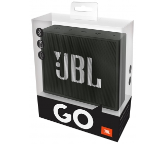 JBL Go Ultra Portable Rechargeable Bluetooth Speaker with Aux Compatible Black