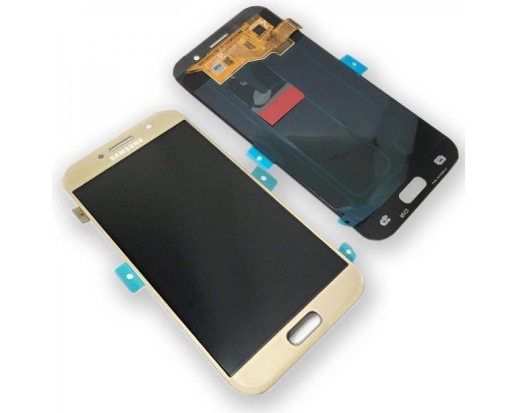 Oryginalny pełny ekran do Samsung Galaxy A5 A520F 2017 Gold Gold