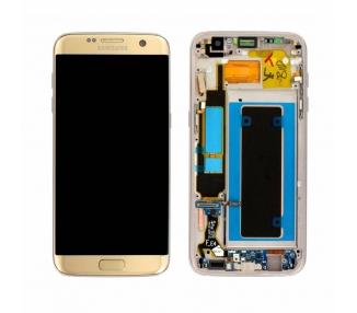Pantalla Completa Original con Marco para Samsung Galaxy S7 Edge Dorado Dorada Samsung - 1
