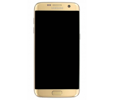 Display For Samsung Galaxy S7 Edge, Color Gold, With Frame, Original Amoled Samsung - 3