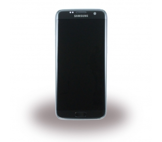 Display For Samsung Galaxy S7 Edge, Color Black, With Frame, Original Amoled
