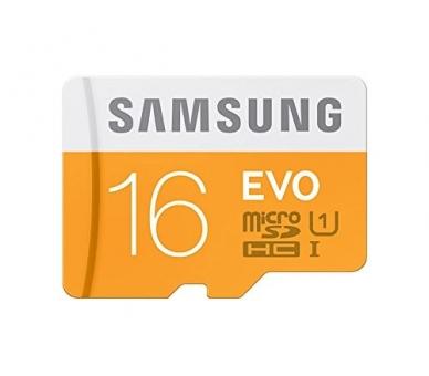 Samsung 16 GB Evo MicroSDHC UHS-I Grade 1 Class 10 Memory Card with SD Adapter (Standard Packaging) - Orange/White Samsung - 3