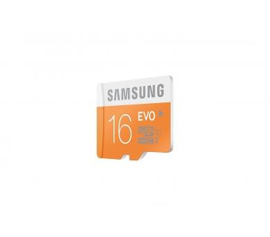 Samsung 16 GB Evo MicroSDHC UHS-I Grade 1 Class 10 Memory Card with SD Adapter (Standard Packaging) - Orange/White Samsung - 4