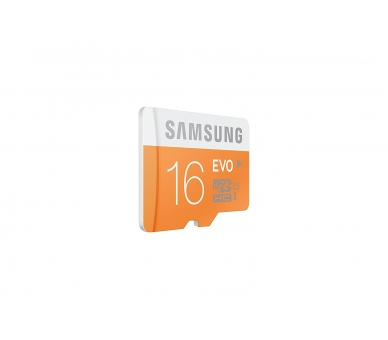 Samsung 16 GB Evo MicroSDHC UHS-I Grade 1 Class 10 Memory Card with SD Adapter (Standard Packaging) - Orange/White Samsung - 5