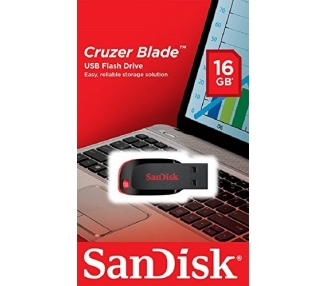 Sandisk Cruzer Blade - Memoria USB de 2.0 de 16 GB, negro