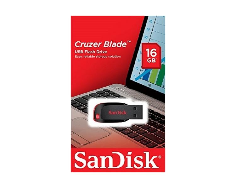 Sandisk Cruzer Blade - pamięć flash USB 2.0 16 GB, czarna