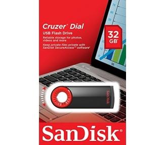 Sandisk Cruzer Dial Pen Drive da 32 GB, Nero - 1