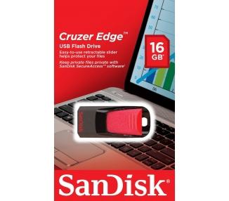 SanDisk SDCZ51-016G-B35 Memoria USB 2.0 de 16 GB negro y rojo