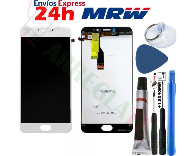 Pełny ekran dla Meizu M3 Note TXDT550UZPA-75 Biały Biały ARREGLATELO - 1