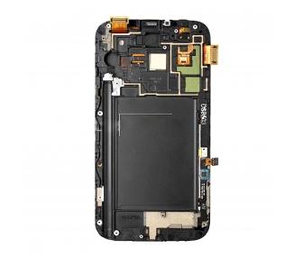Pełny ekran z ramką do telefonu Samsung Galaxy Note 2 N7100 White White