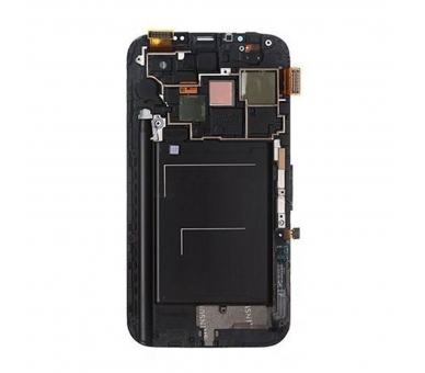 Display For Samsung Galaxy Note 2, Color Black, With Frame, TFT ARREGLATELO - 1