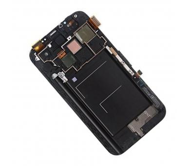 Volledig scherm met frame voor Samsung Galaxy Note 2 N7100 Zwart Zwart FIX IT - 3