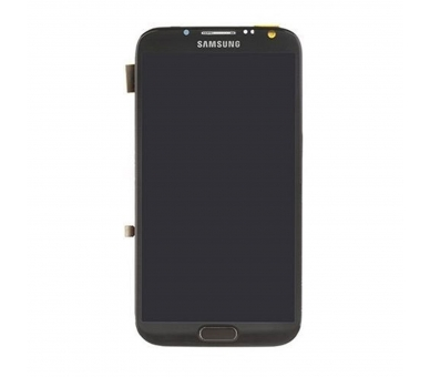 Display For Samsung Galaxy Note 2, Color Black, With Frame, TFT ARREGLATELO - 2