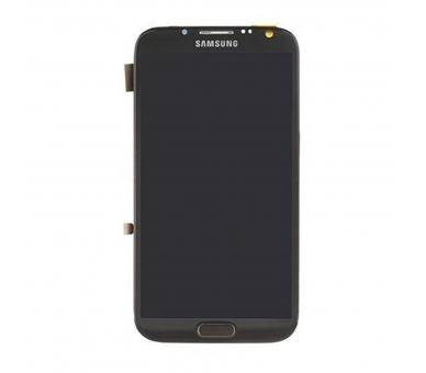 Volledig scherm met frame voor Samsung Galaxy Note 2 N7100 Zwart Zwart FIX IT - 2