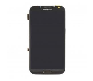 Pantalla Completa con Marco para Samsung Galaxy Note 2 N7100 Negro Negra ARREGLATELO - 2