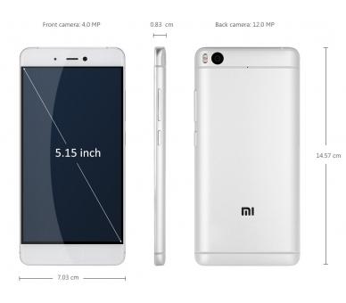 Xiaomi Mi5S , Mi 5S , Mi 5 S , 3GB RAM 64GB ROM 16MPX QUAD CORE Silber Xiaomi - 2